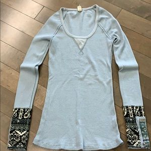 Free People Hyperactive Hippie thermal, blue